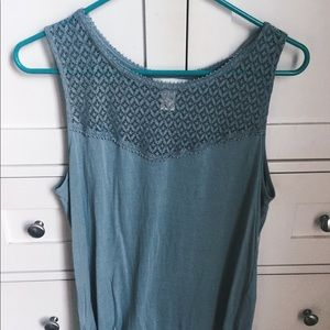 Teal Lace Top
